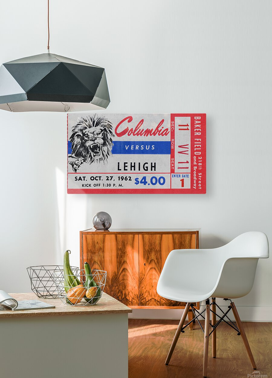 1962 Columbia Lions vs. Lehigh Engineers  HD Metal print with Floating Frame on Back