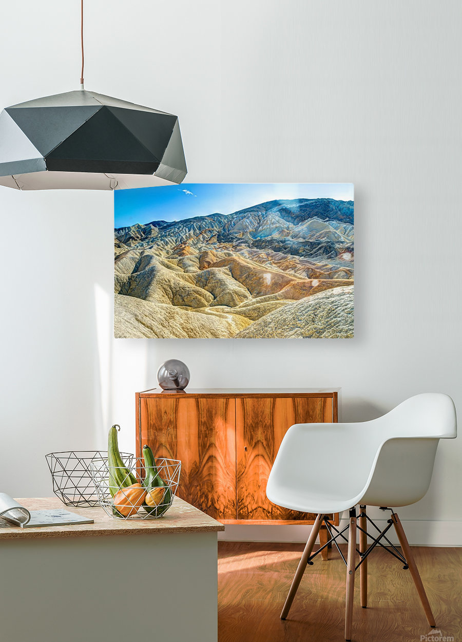 Death Valley Waves  HD Metal print with Floating Frame on Back