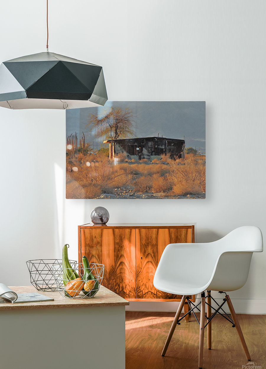 Abandoned in the Desert  HD Metal print with Floating Frame on Back