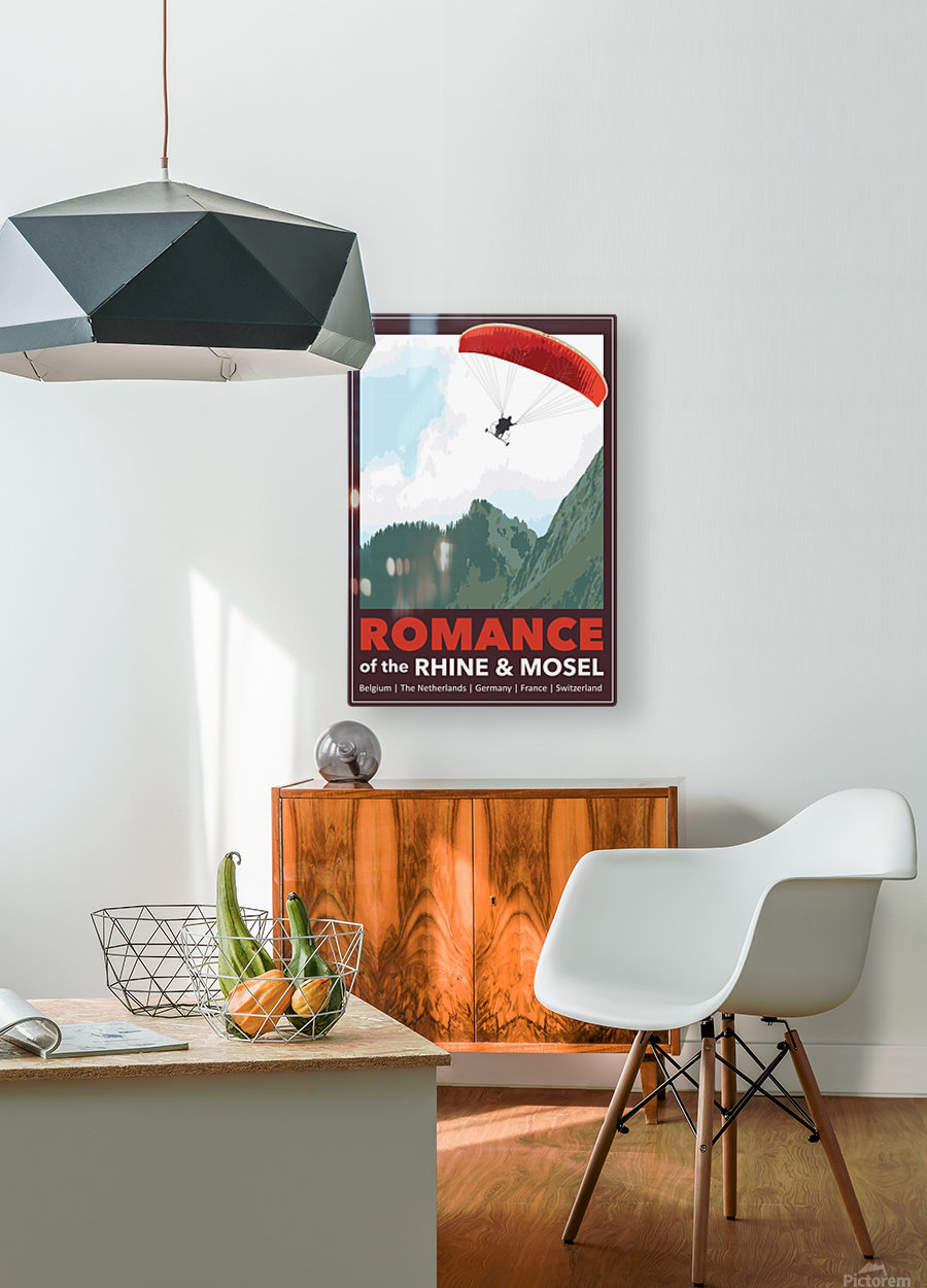 Lydon, Romance of the Rhine and Mosel poster  HD Metal print with Floating Frame on Back