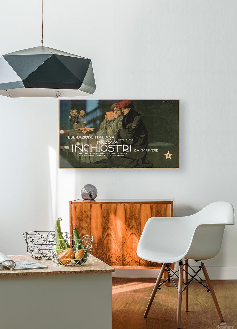 Federazione Italiana Chimico Industriale Padova Inchiostri Da Scrivere Poster  HD Metal print with Floating Frame on Back