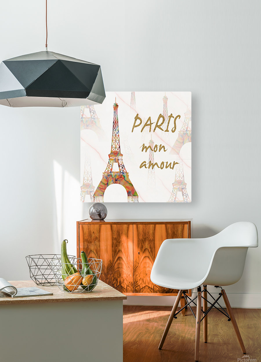 Paris mon amour  HD Metal print with Floating Frame on Back