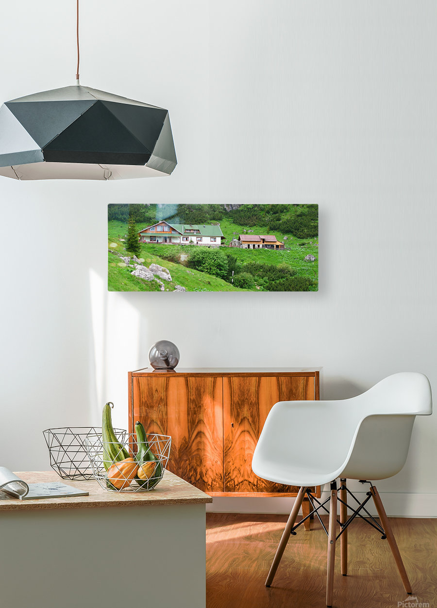 Malaiesti cabin in Romania  HD Metal print with Floating Frame on Back
