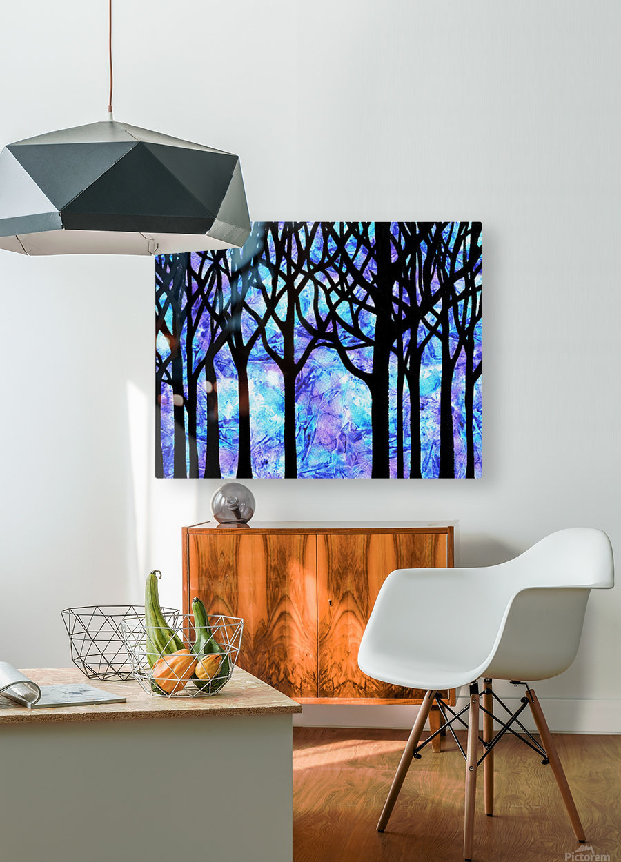 Frozen Forest  HD Metal print with Floating Frame on Back