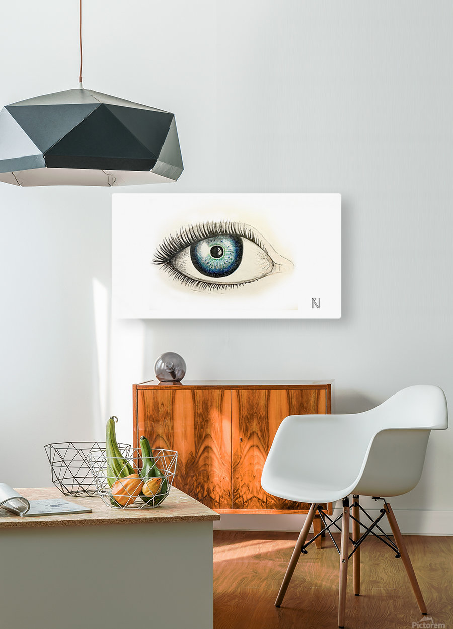 Eye  HD Metal print with Floating Frame on Back