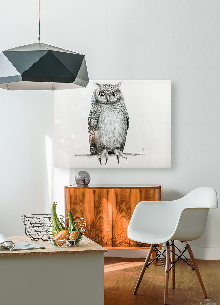 Qwl  HD Metal print with Floating Frame on Back