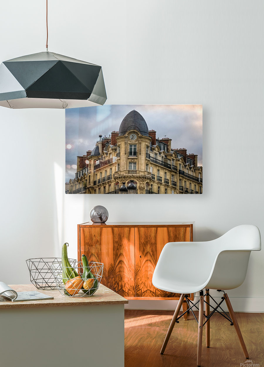 Paris Style  HD Metal print with Floating Frame on Back