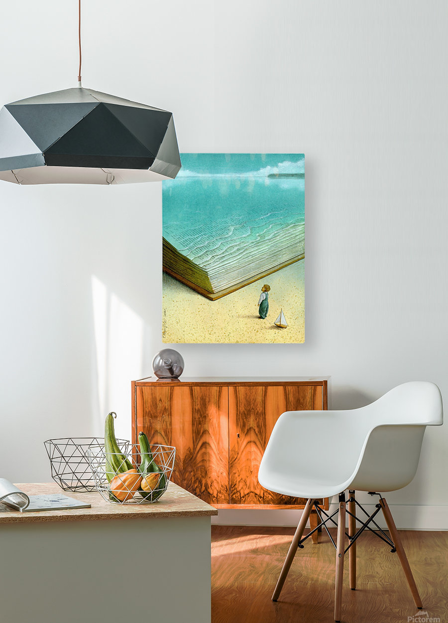 Ocean  HD Metal print with Floating Frame on Back