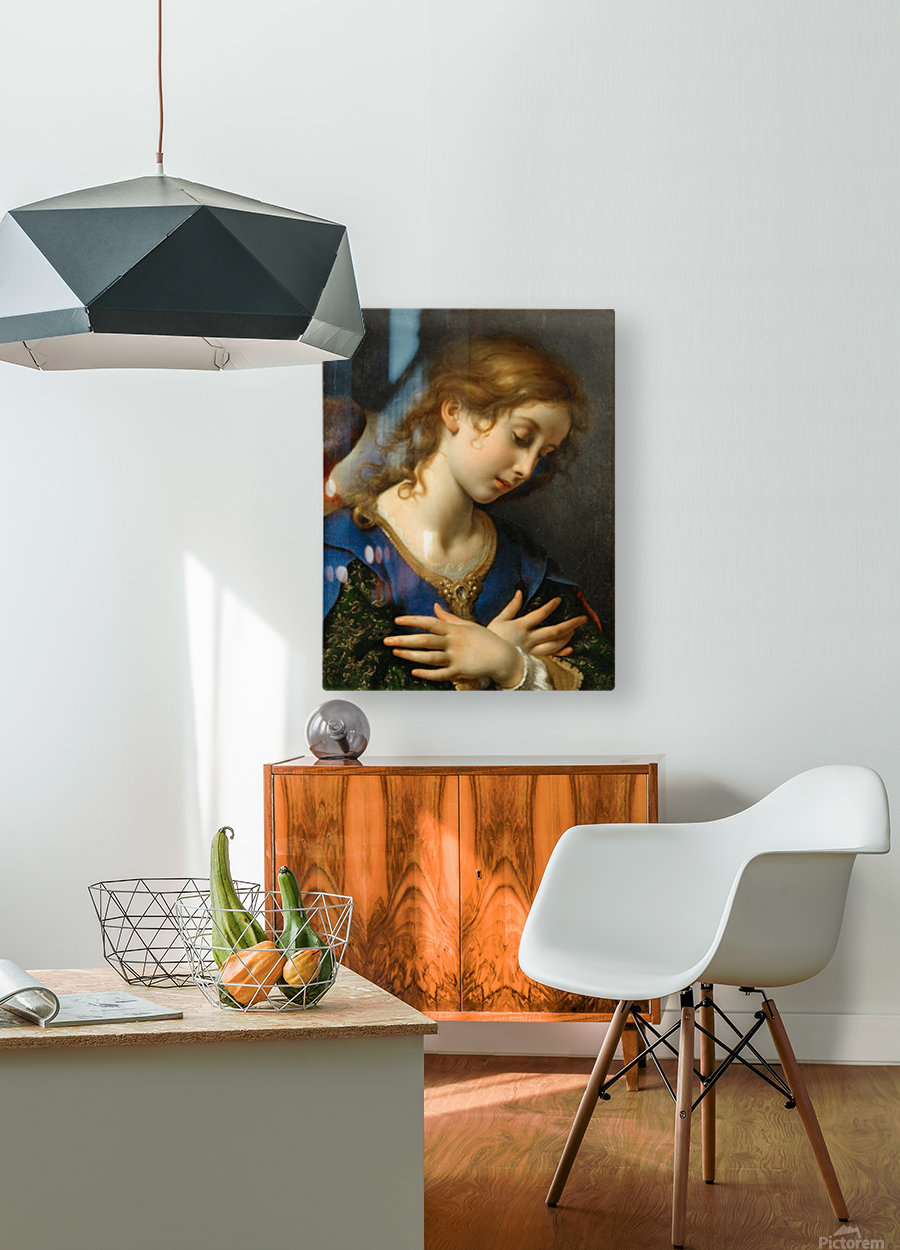 The Angel of Annunciation, 1653  HD Metal print with Floating Frame on Back
