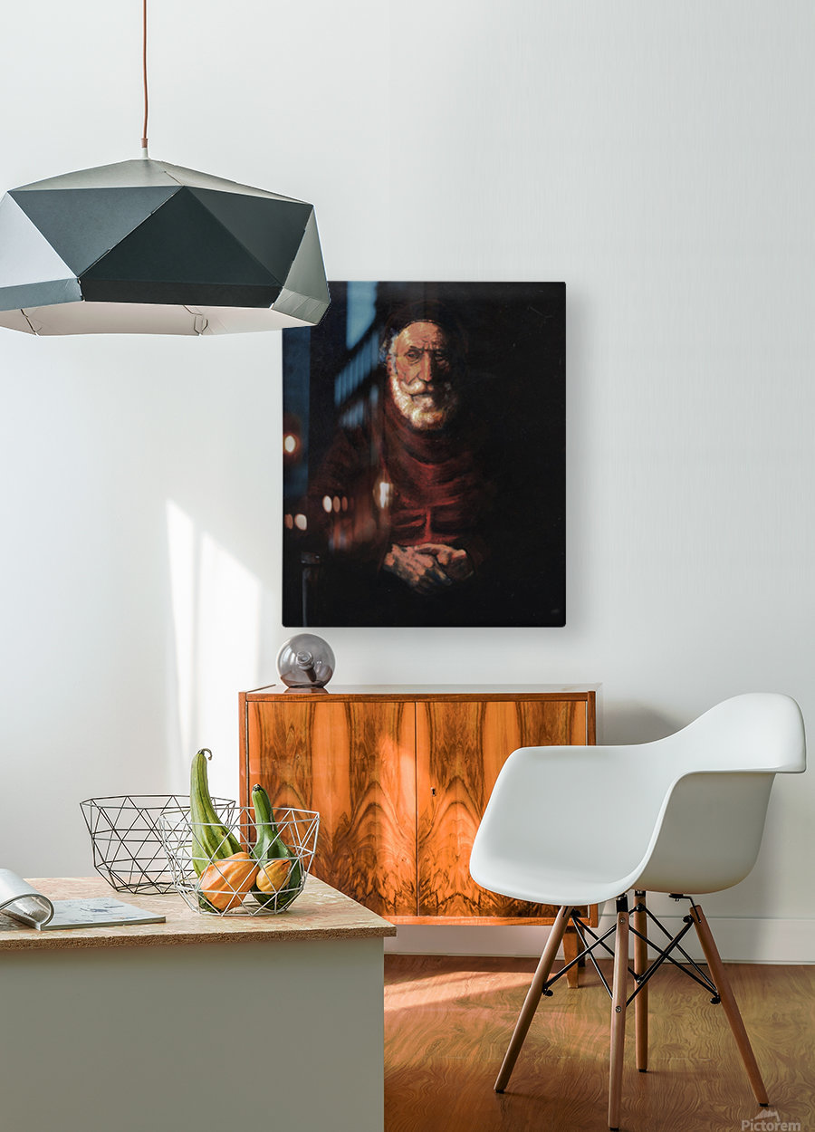 Old man  HD Metal print with Floating Frame on Back