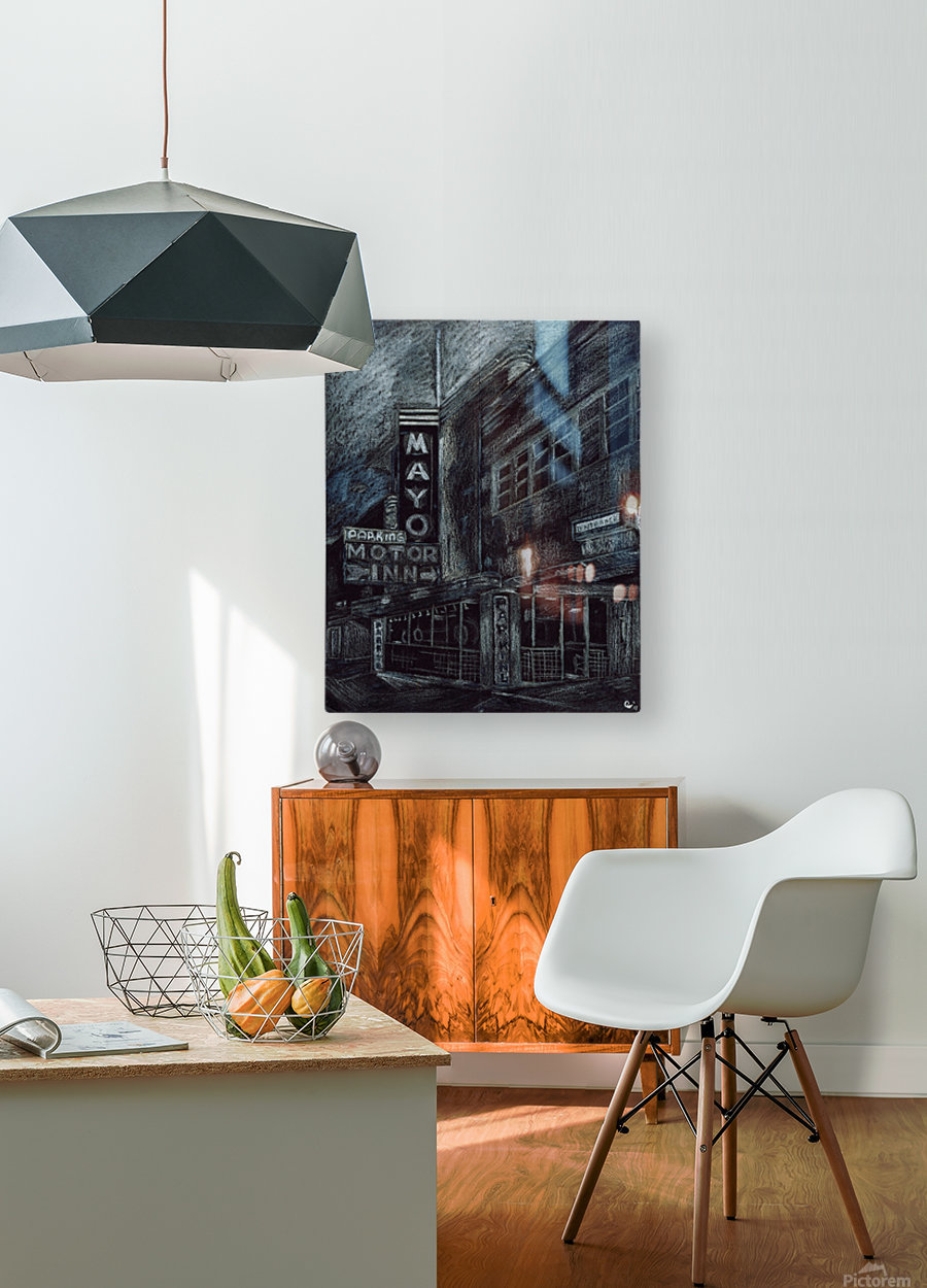 Mayo building  HD Metal print with Floating Frame on Back