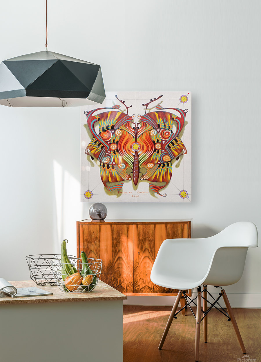 tribal butterfly  HD Metal print with Floating Frame on Back