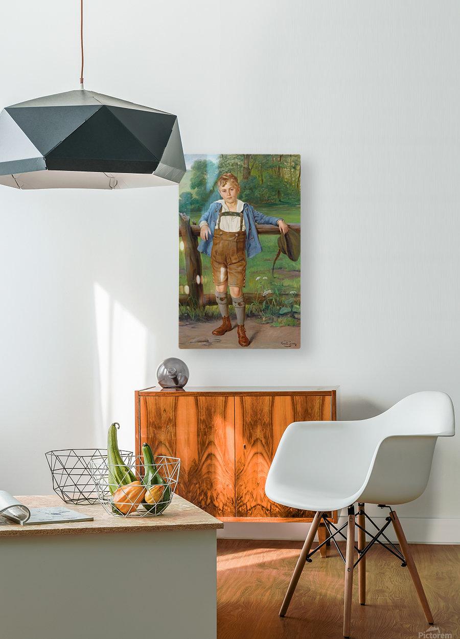 The New Lederhosen  HD Metal print with Floating Frame on Back