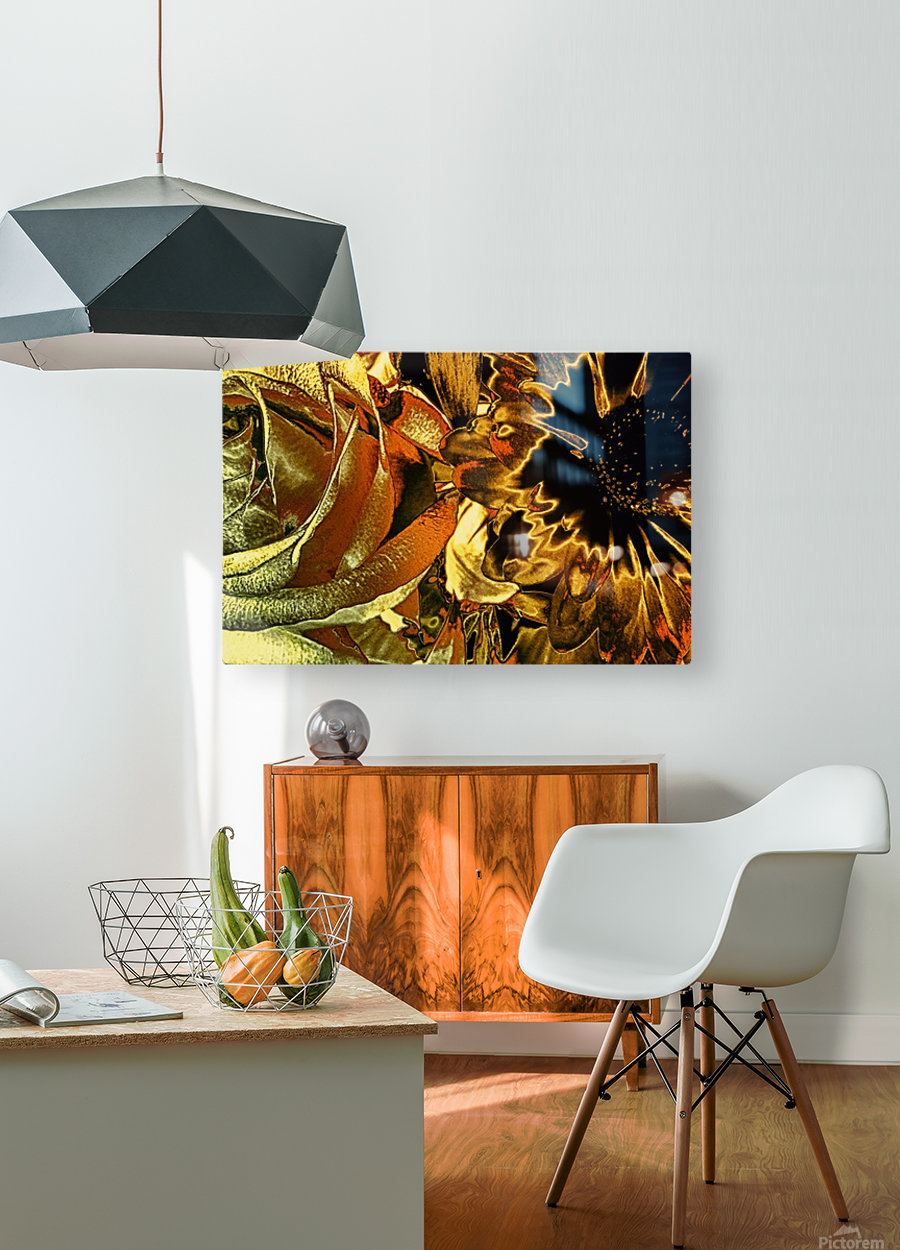 Just Golden  HD Metal print with Floating Frame on Back