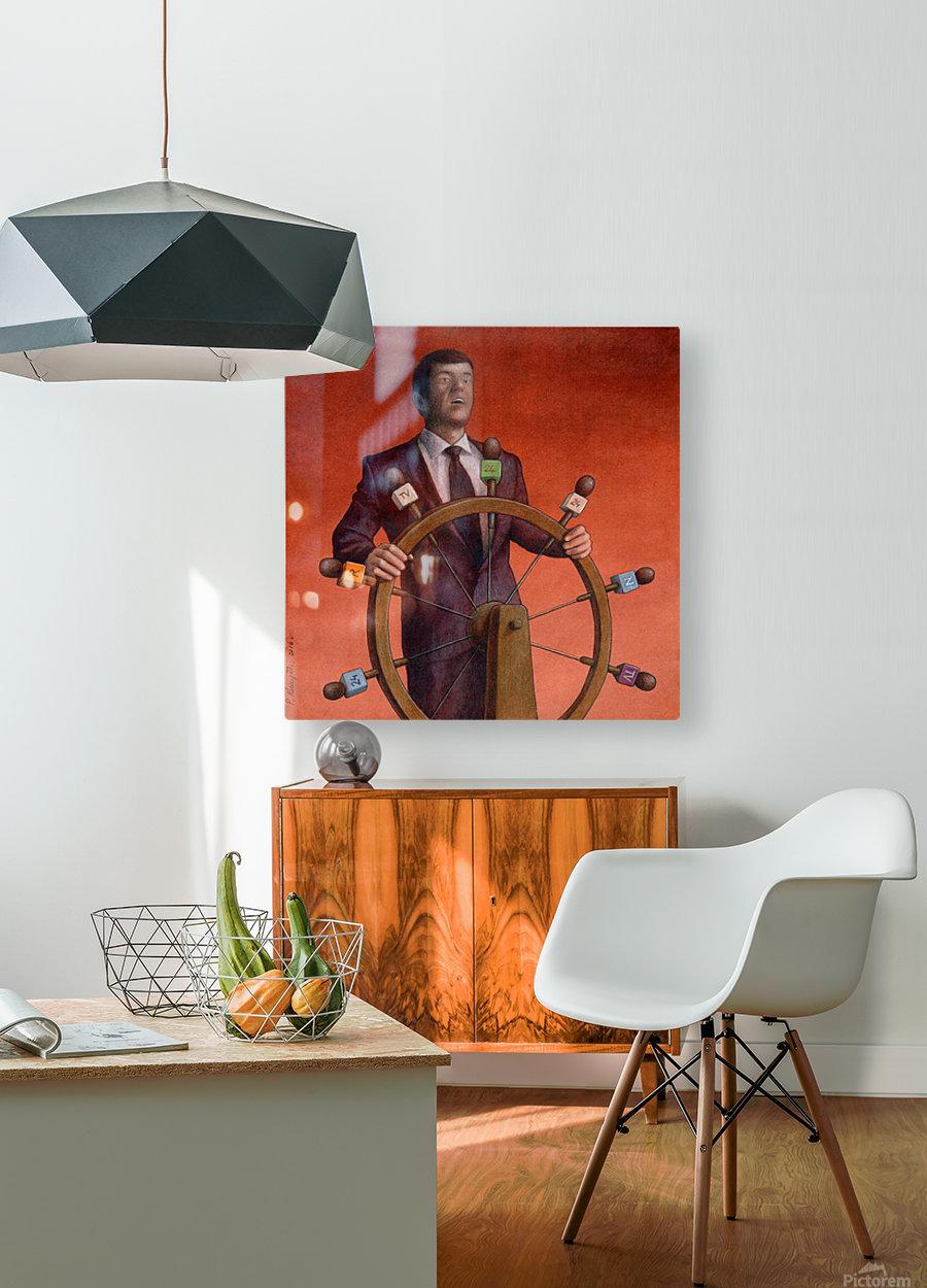 Propaganda  HD Metal print with Floating Frame on Back