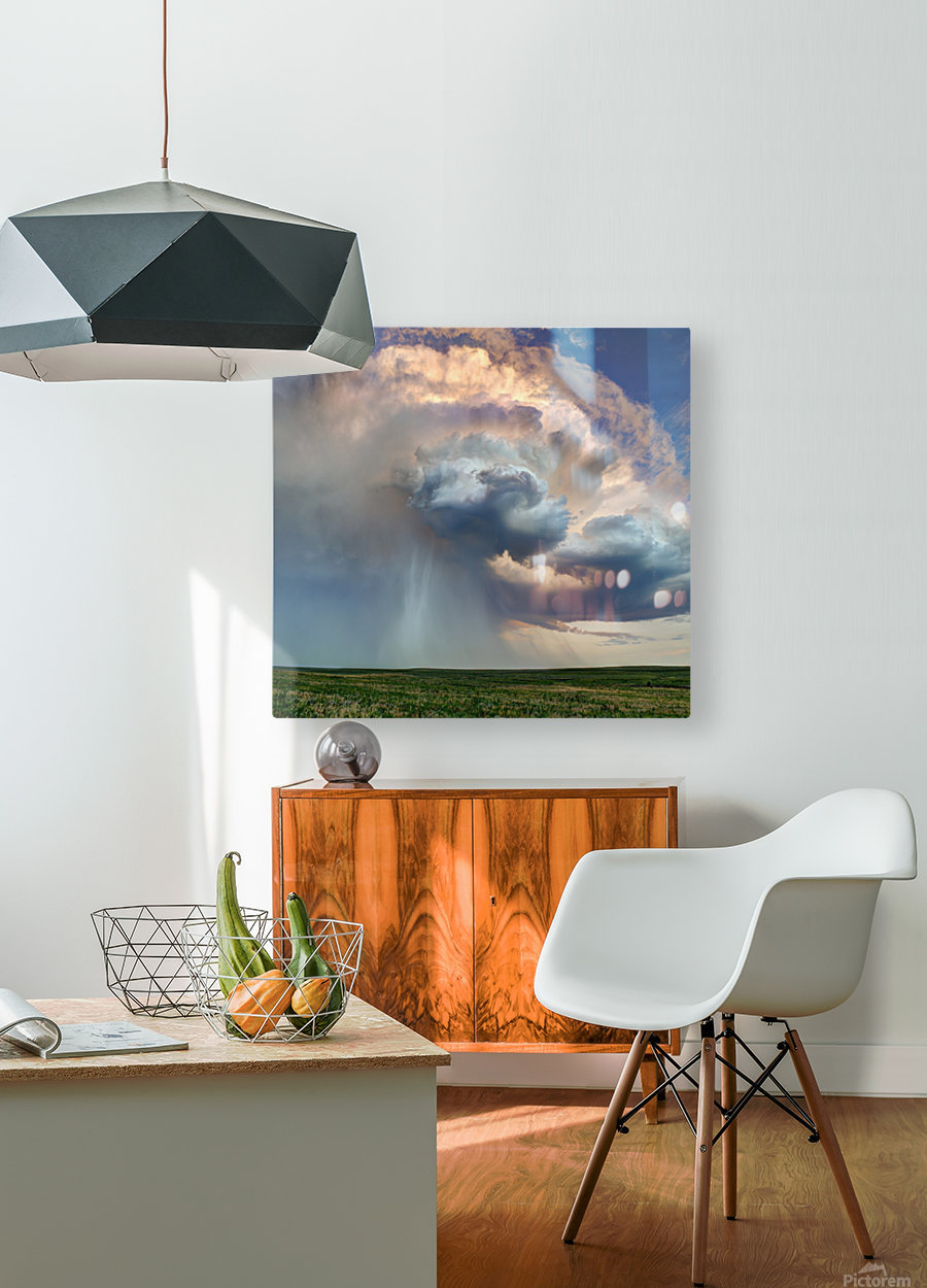 July Rain Storm  HD Metal print with Floating Frame on Back