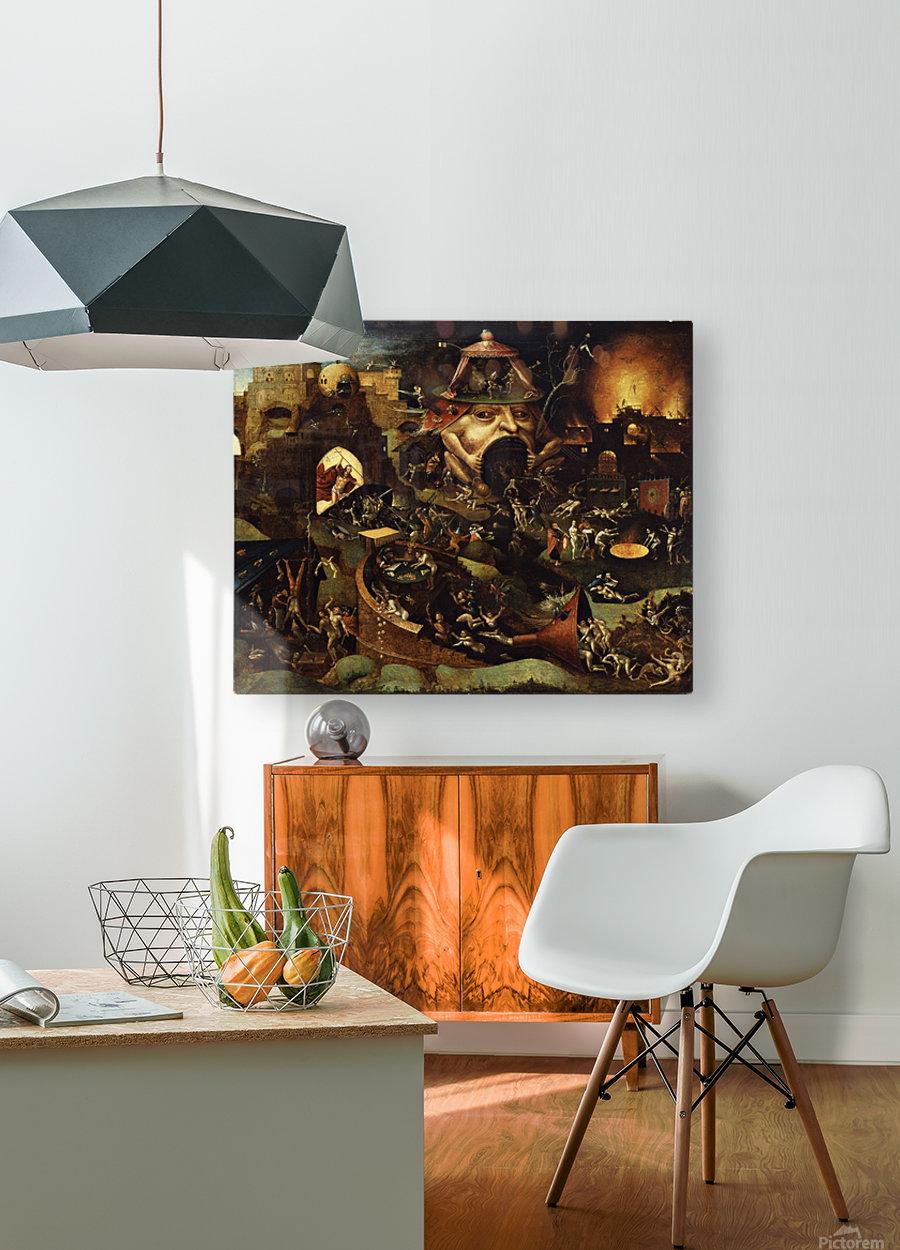 The Harrowing of Hell  Impression métal HD avec cadre flottant sur le dos