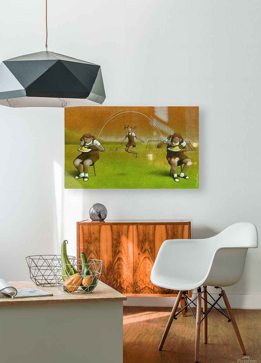 Girls  HD Metal print with Floating Frame on Back