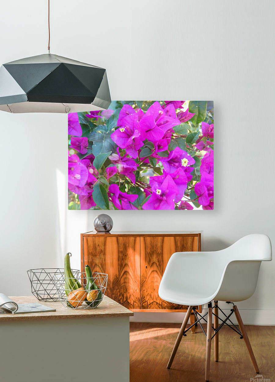 Purple Fusion  HD Metal print with Floating Frame on Back