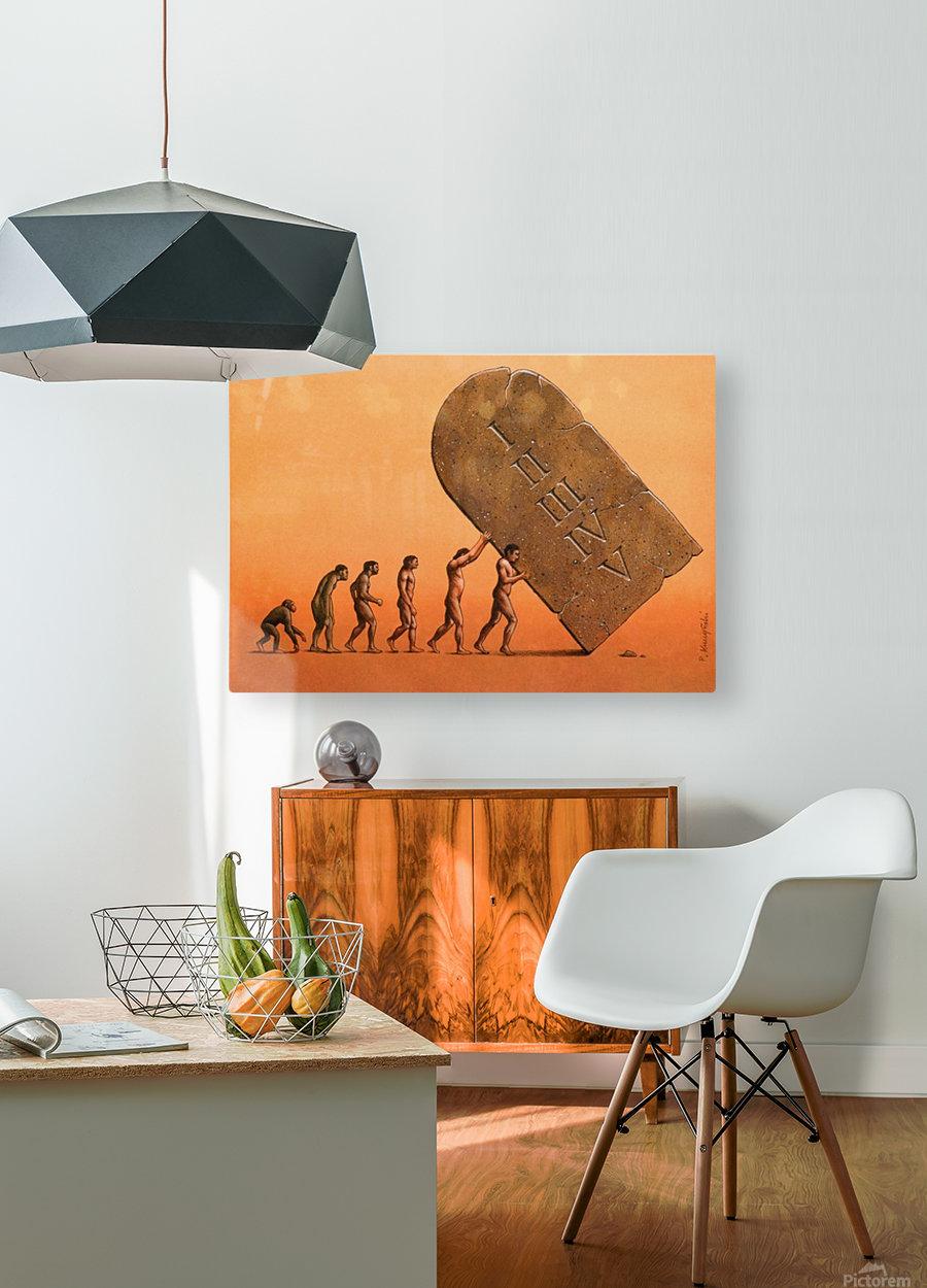 evolution  HD Metal print with Floating Frame on Back