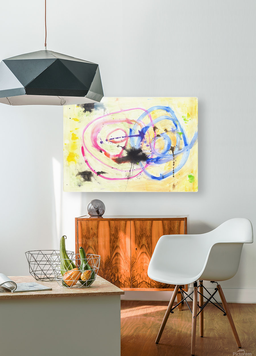 Relationship 1 (Joan Miro tribute)  HD Metal print with Floating Frame on Back