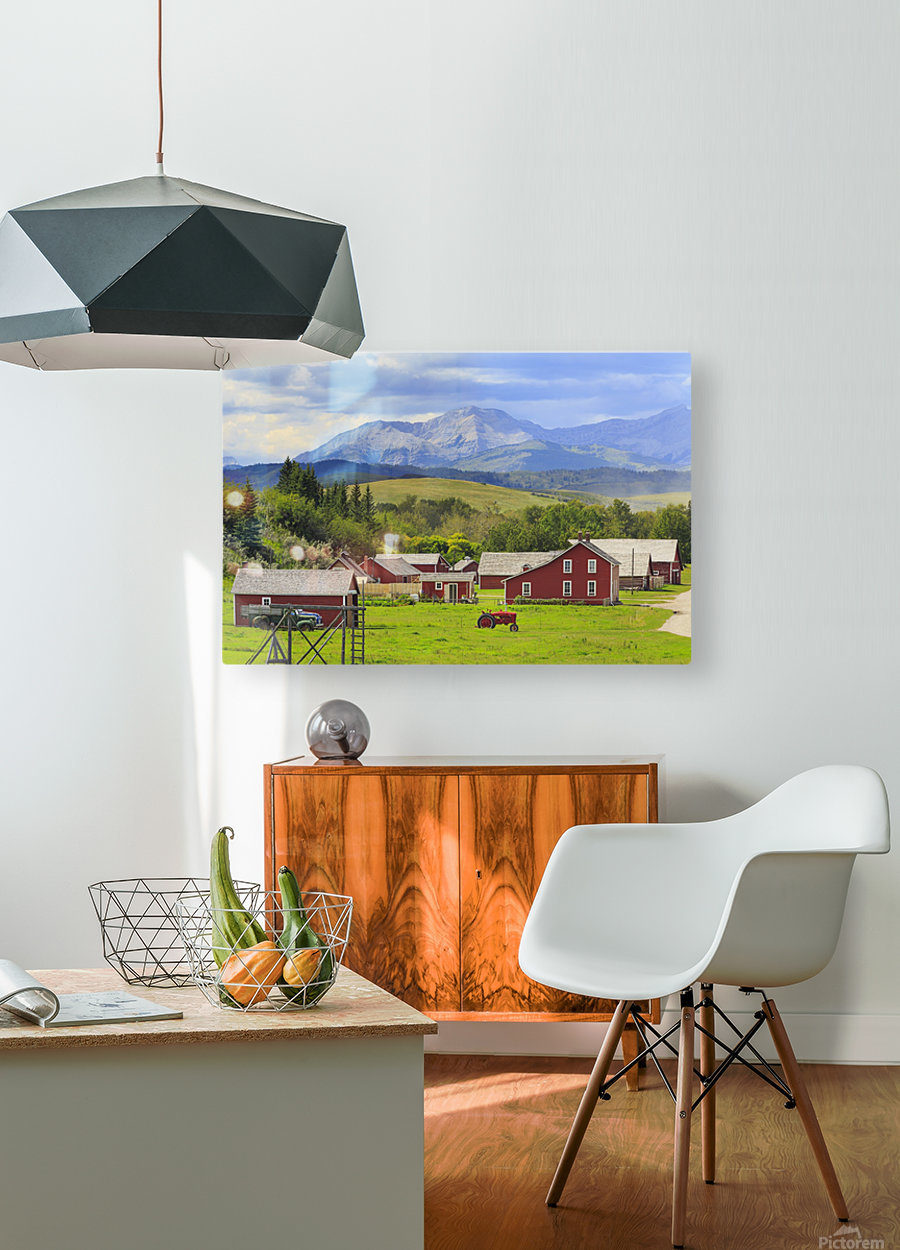 Bar U Ranch National Historic Site; Longview, Alberta, Canada  HD Metal print with Floating Frame on Back