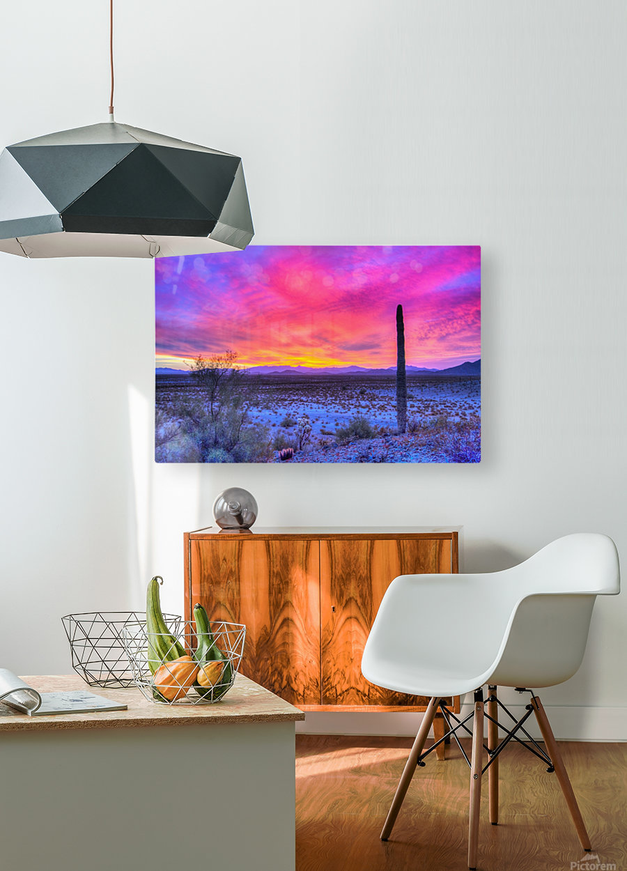 Sonoran_sunset  HD Metal print with Floating Frame on Back