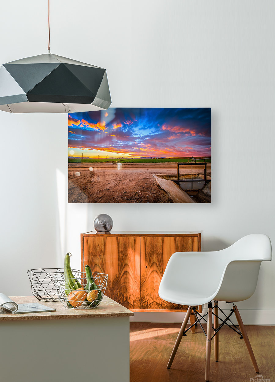 At Days End  HD Metal print with Floating Frame on Back