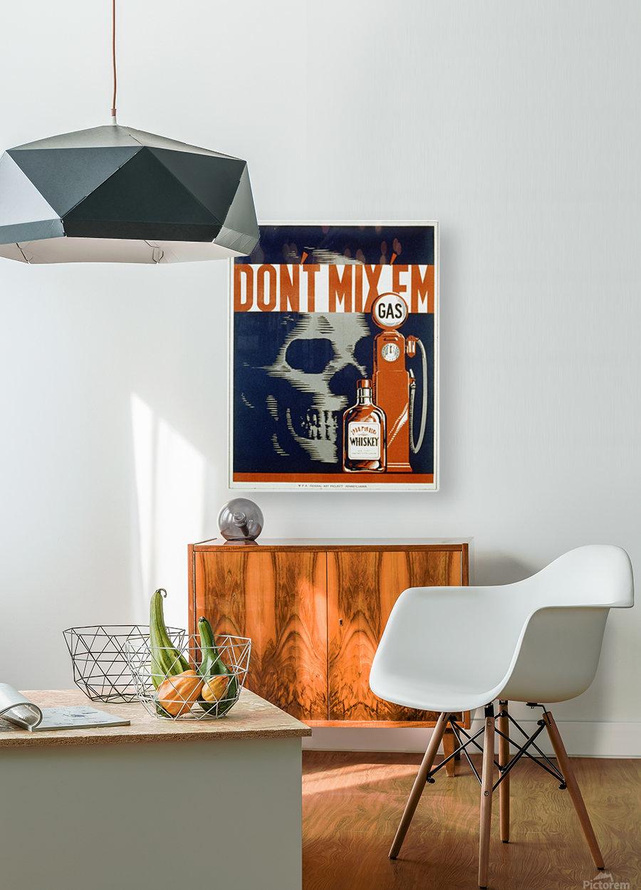Dont mixem vintage poster  HD Metal print with Floating Frame on Back