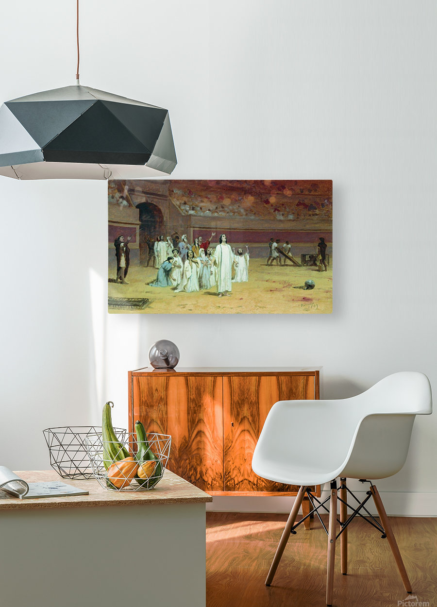 Christians in the arena  HD Metal print with Floating Frame on Back