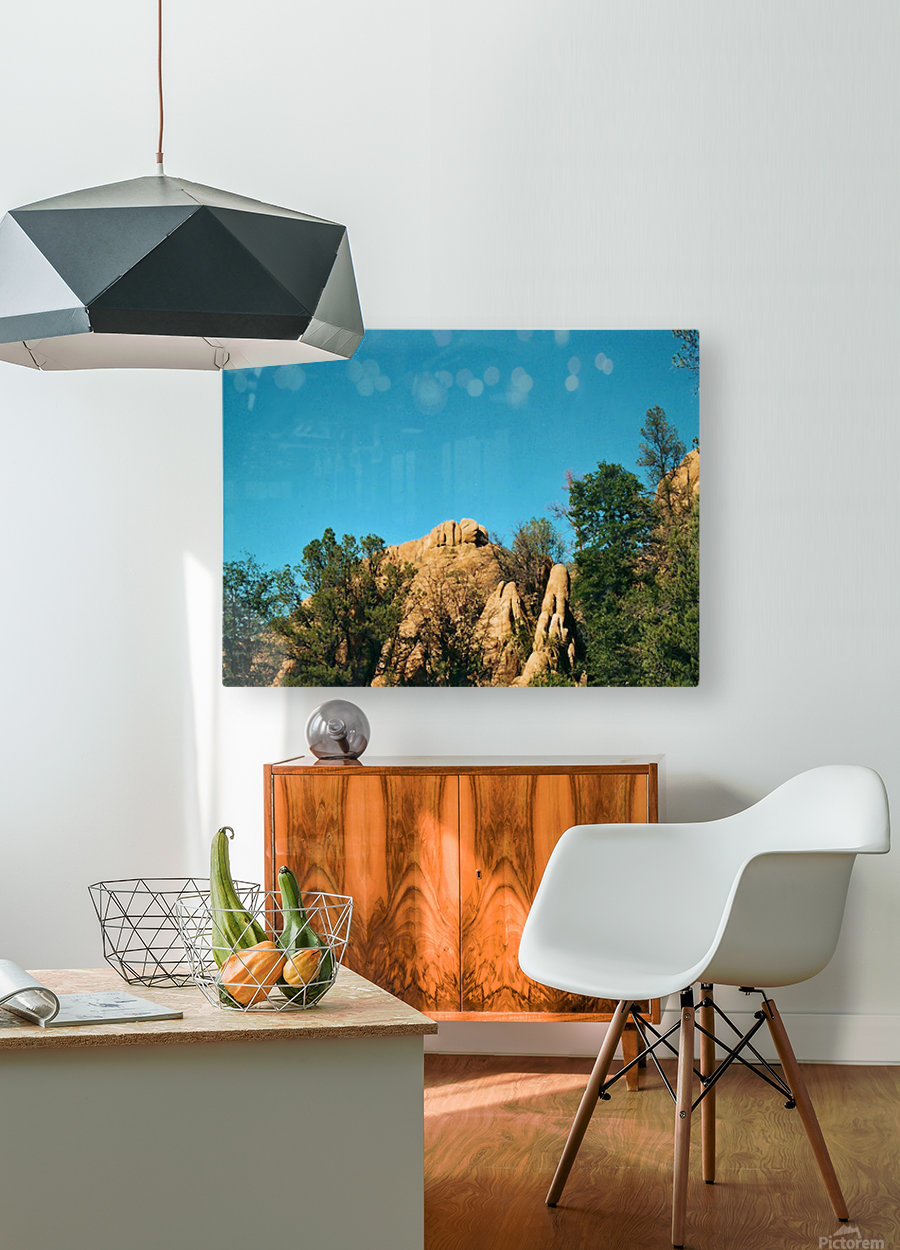 A Rock Hill  HD Metal print with Floating Frame on Back