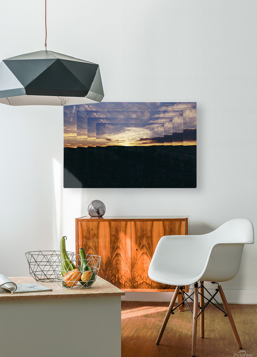 A  Manipulated Sunset  HD Metal print with Floating Frame on Back