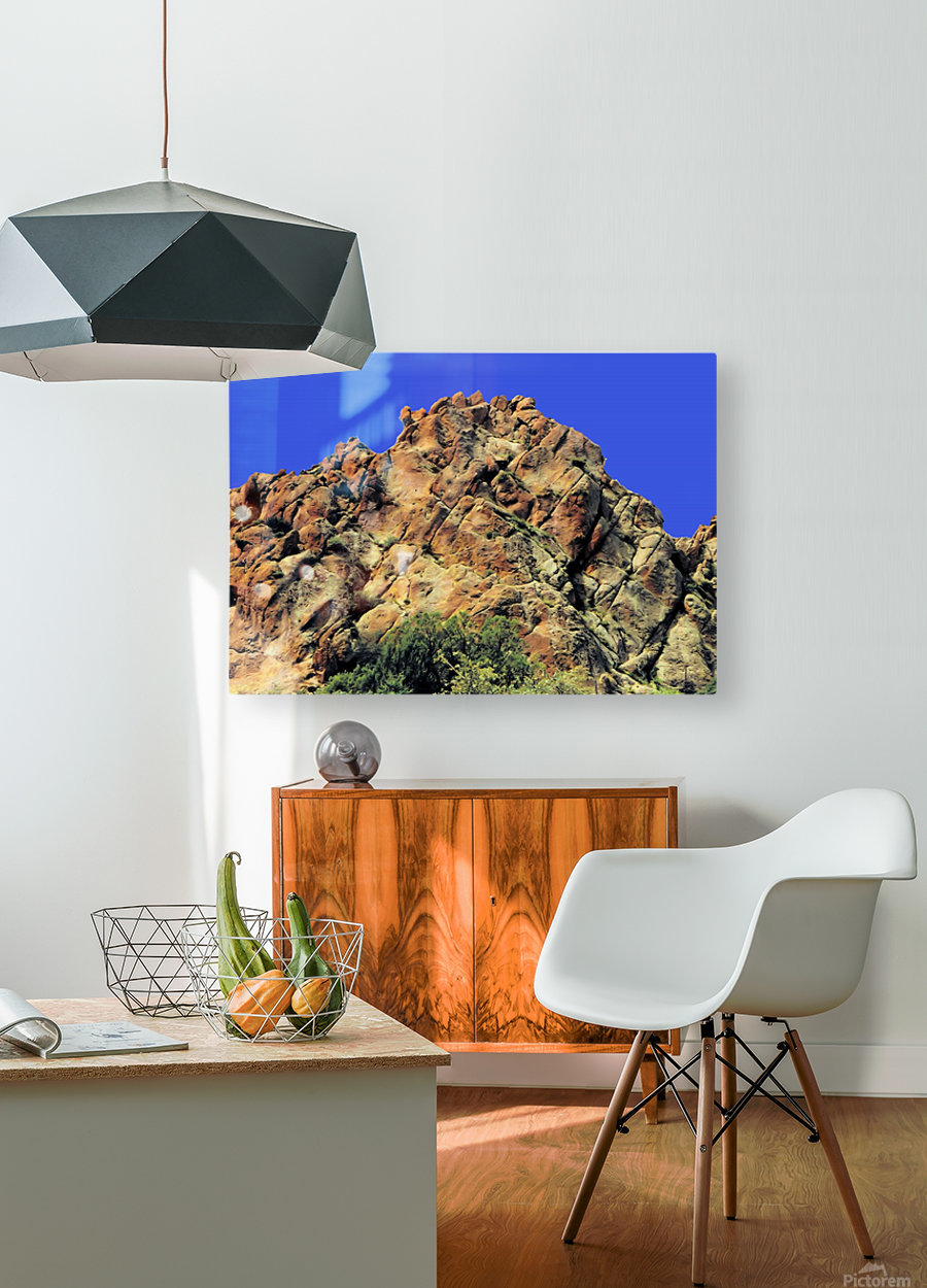 Another Rock Hill   HD Metal print with Floating Frame on Back