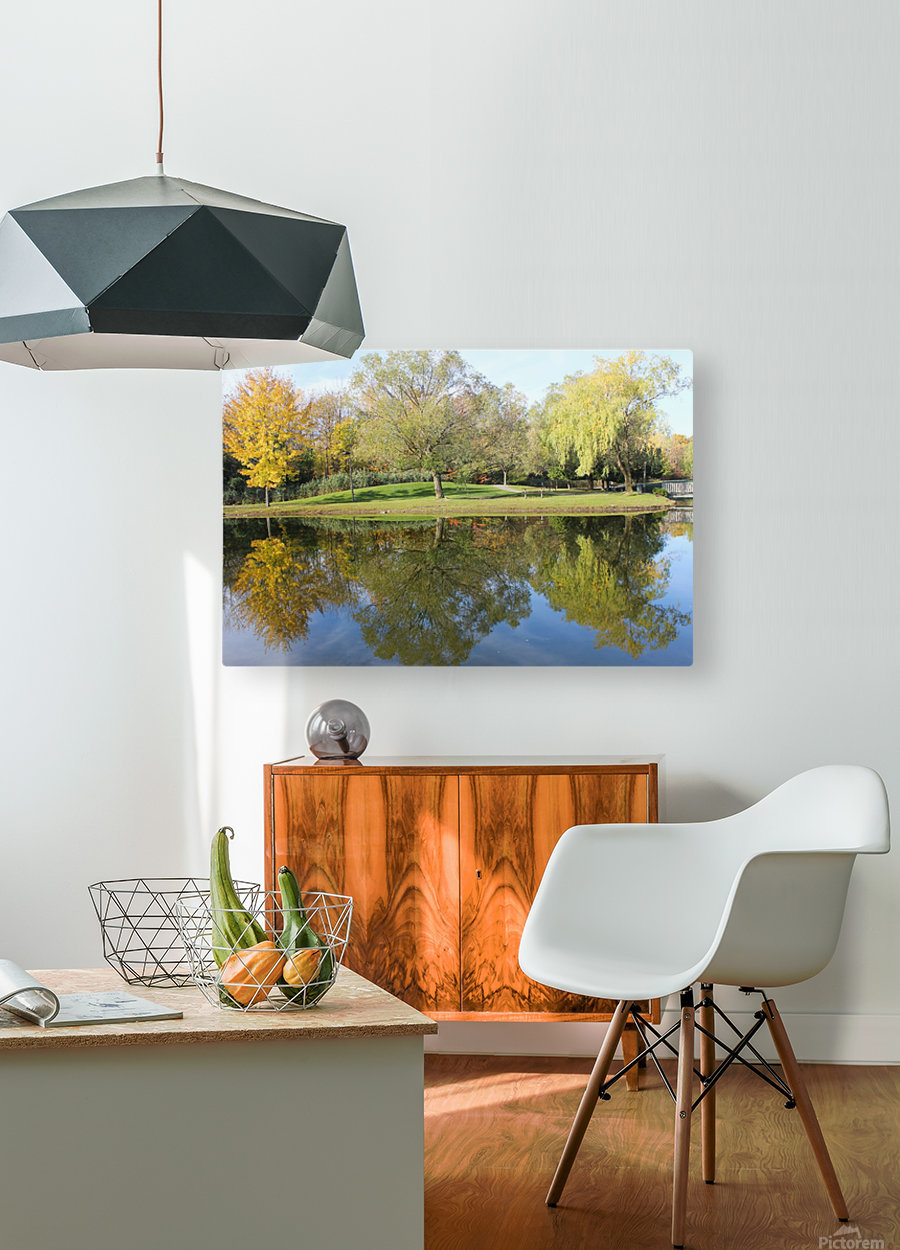 Tree reflection  HD Metal print with Floating Frame on Back