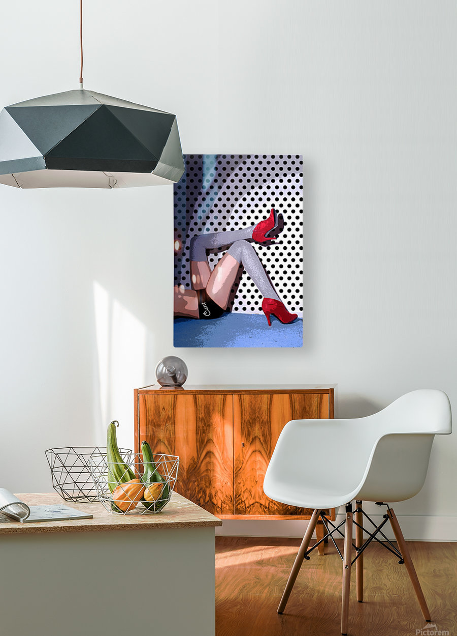 C*NT  HD Metal print with Floating Frame on Back