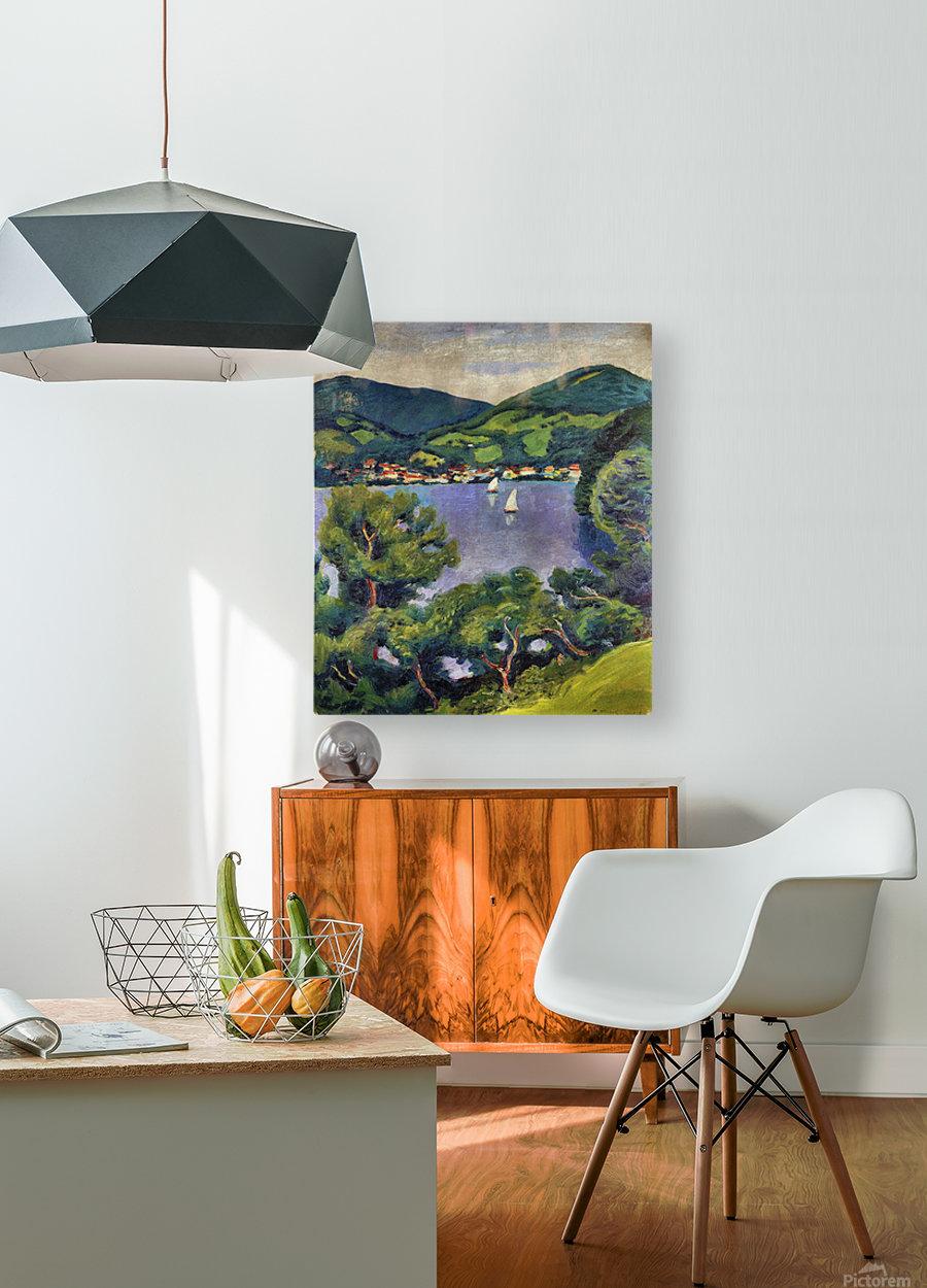 Tegern Sea landscape by August Macke  HD Metal print with Floating Frame on Back