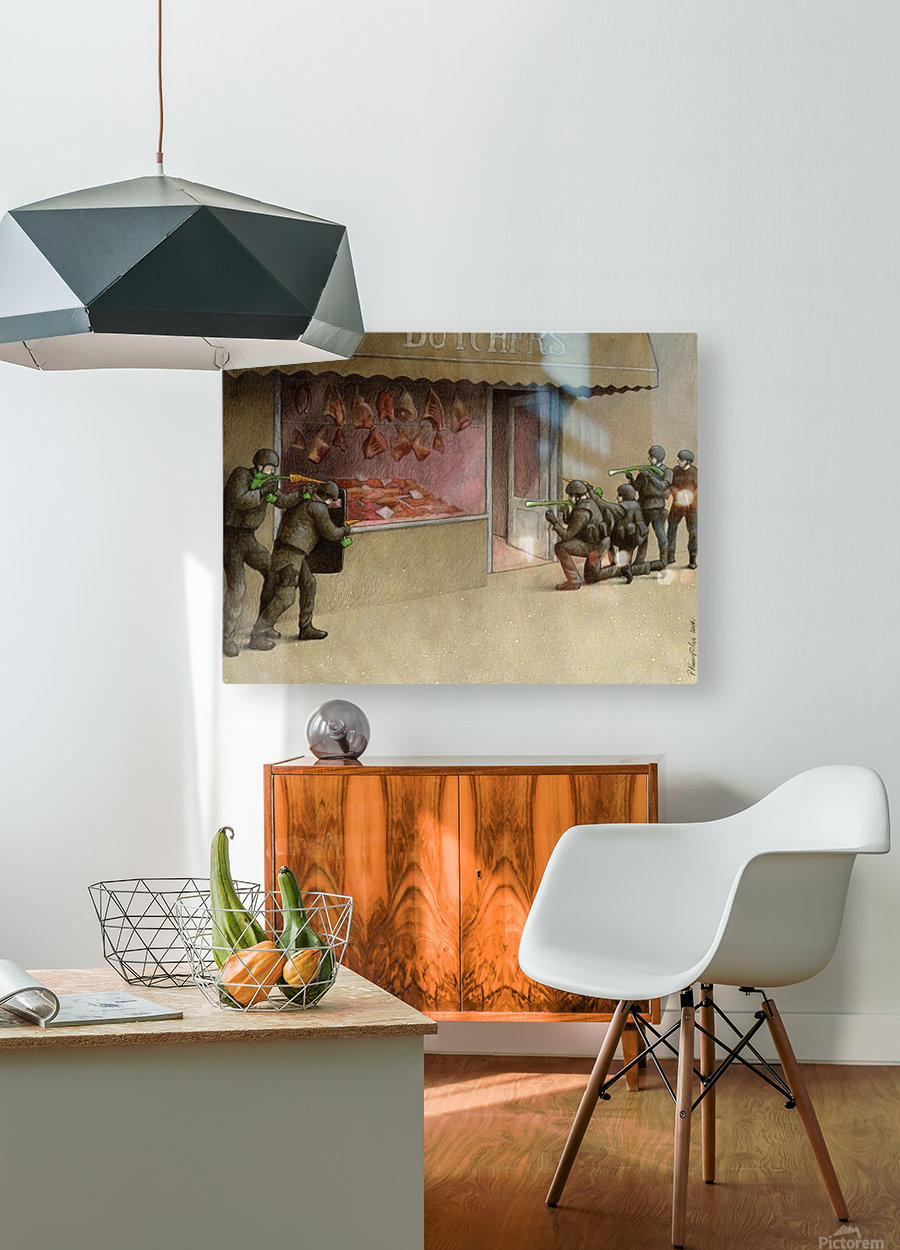 SWAT  HD Metal print with Floating Frame on Back