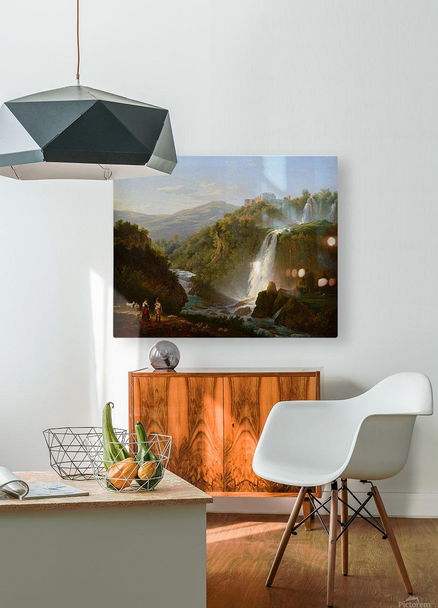 Waterfall near Tivoli  HD Metal print with Floating Frame on Back