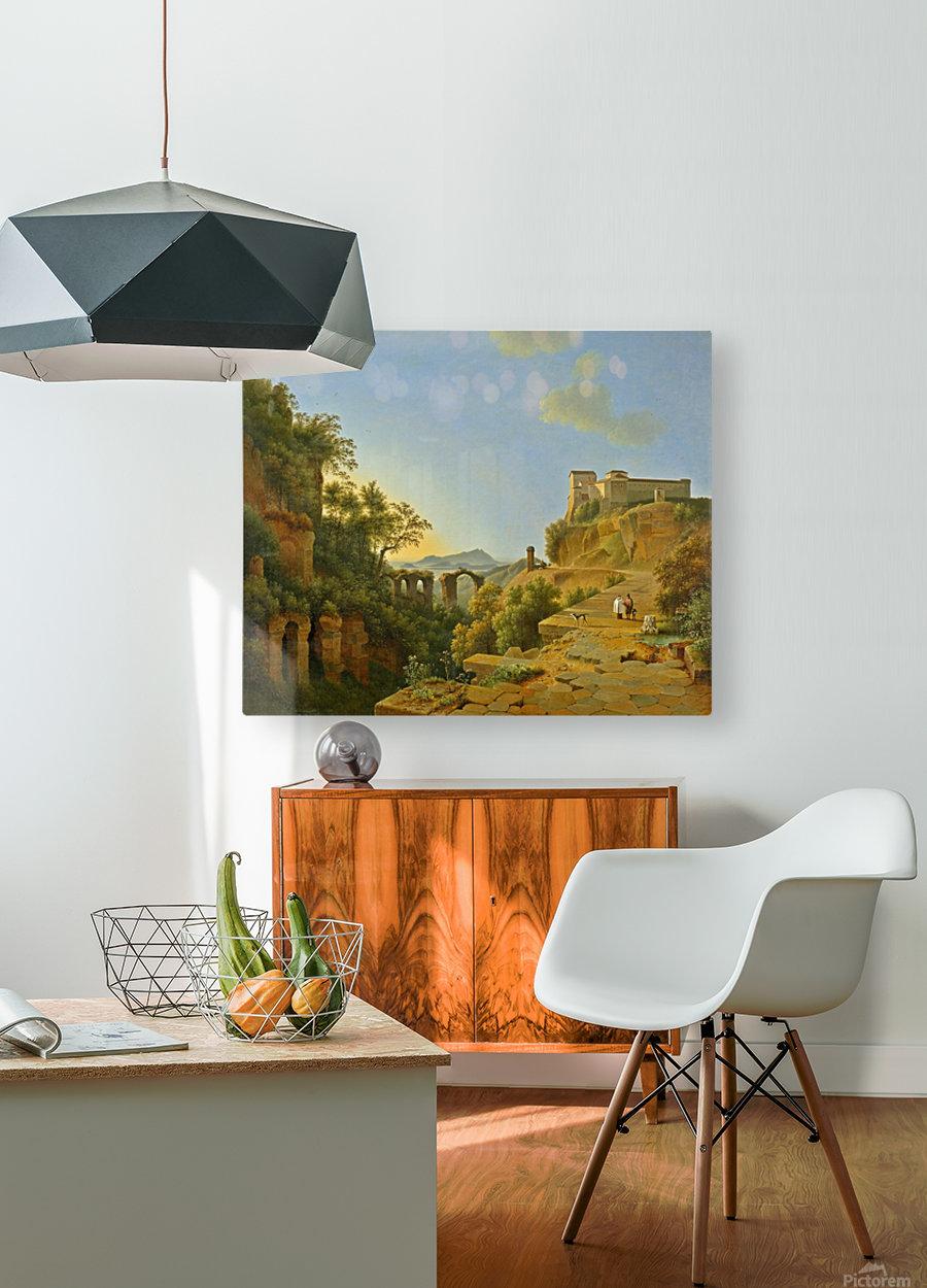 De golf van Napels met op de achtergrond het eiland Ischia  HD Metal print with Floating Frame on Back