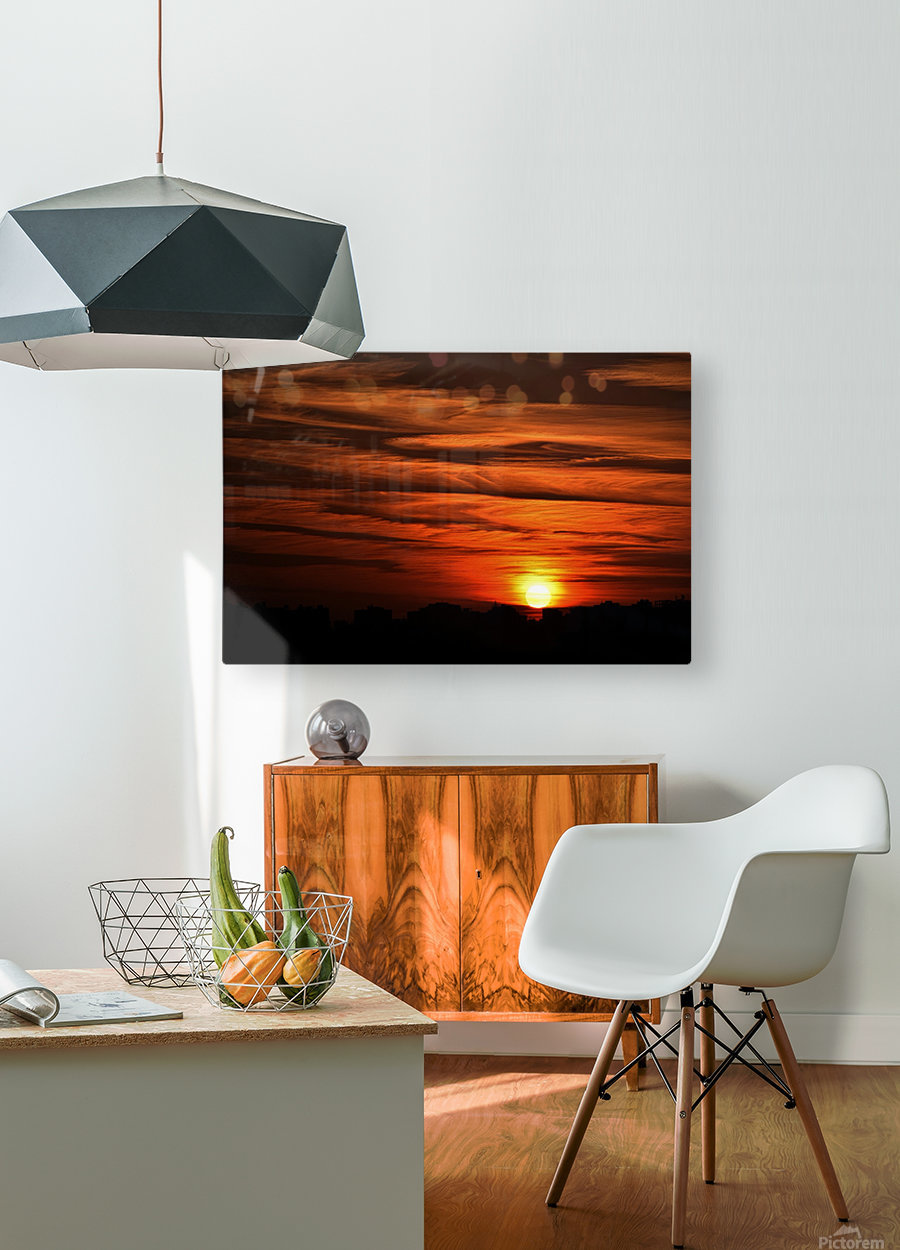 Sunrise in Cairo  HD Metal print with Floating Frame on Back