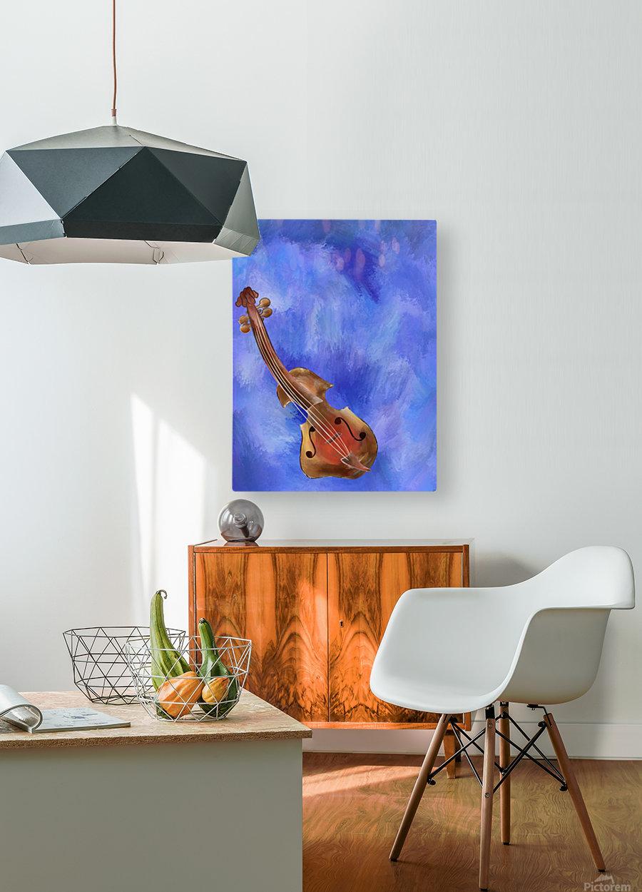 Violessinum V1  HD Metal print with Floating Frame on Back