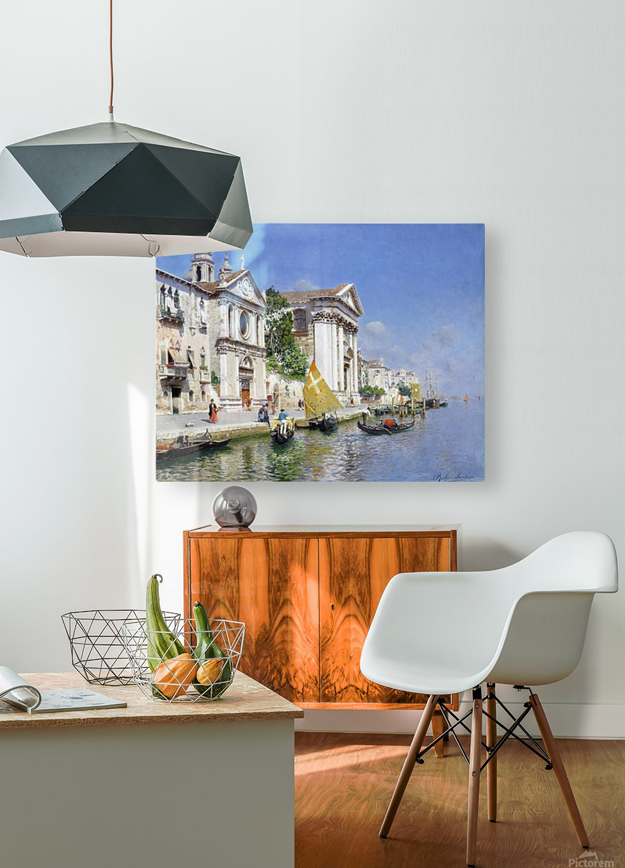 The Zattera and Church of the Jesuate, Venice  HD Metal print with Floating Frame on Back