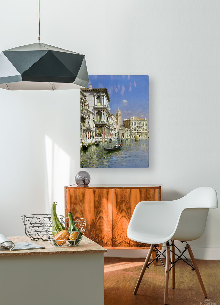 In the gondola  HD Metal print with Floating Frame on Back