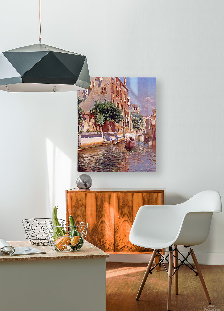 St Apostoli Canal, Venice  HD Metal print with Floating Frame on Back