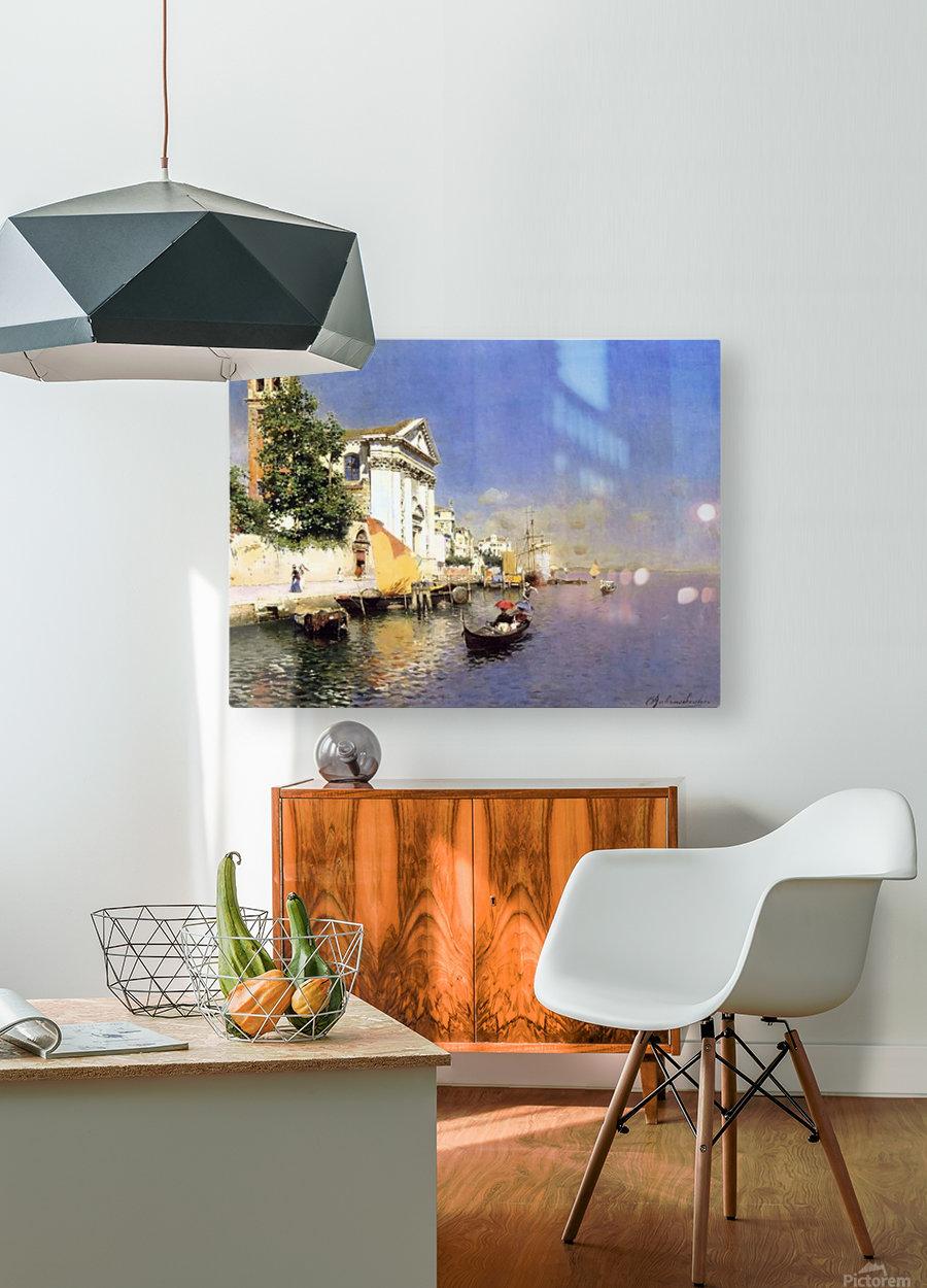 Entering a Venetian Canal  Impression métal HD avec cadre flottant sur le dos
