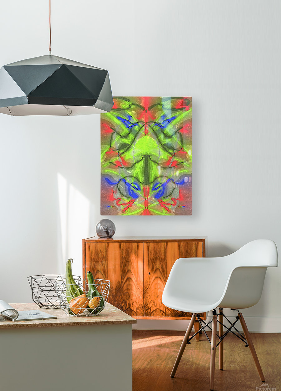 Graph  HD Metal print with Floating Frame on Back