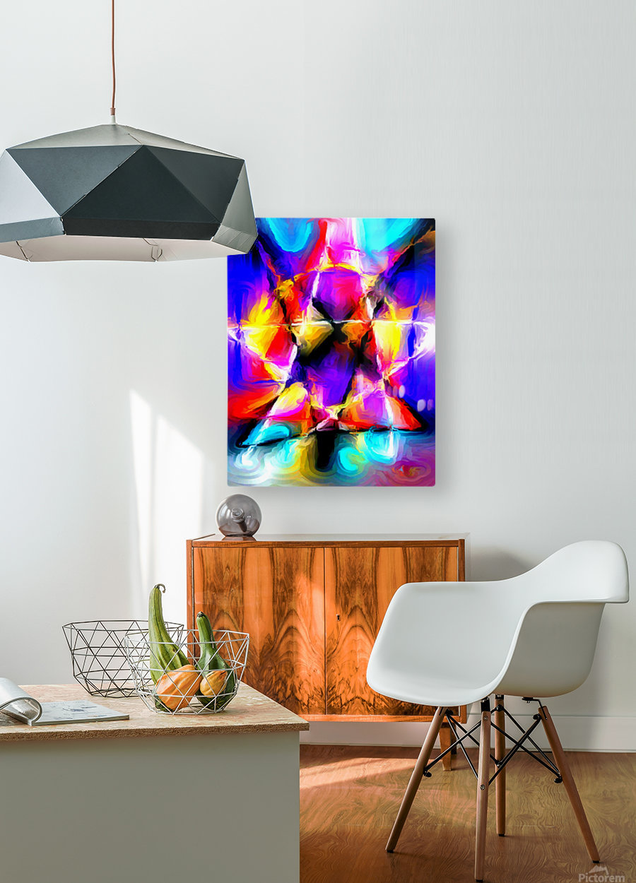 star  HD Metal print with Floating Frame on Back
