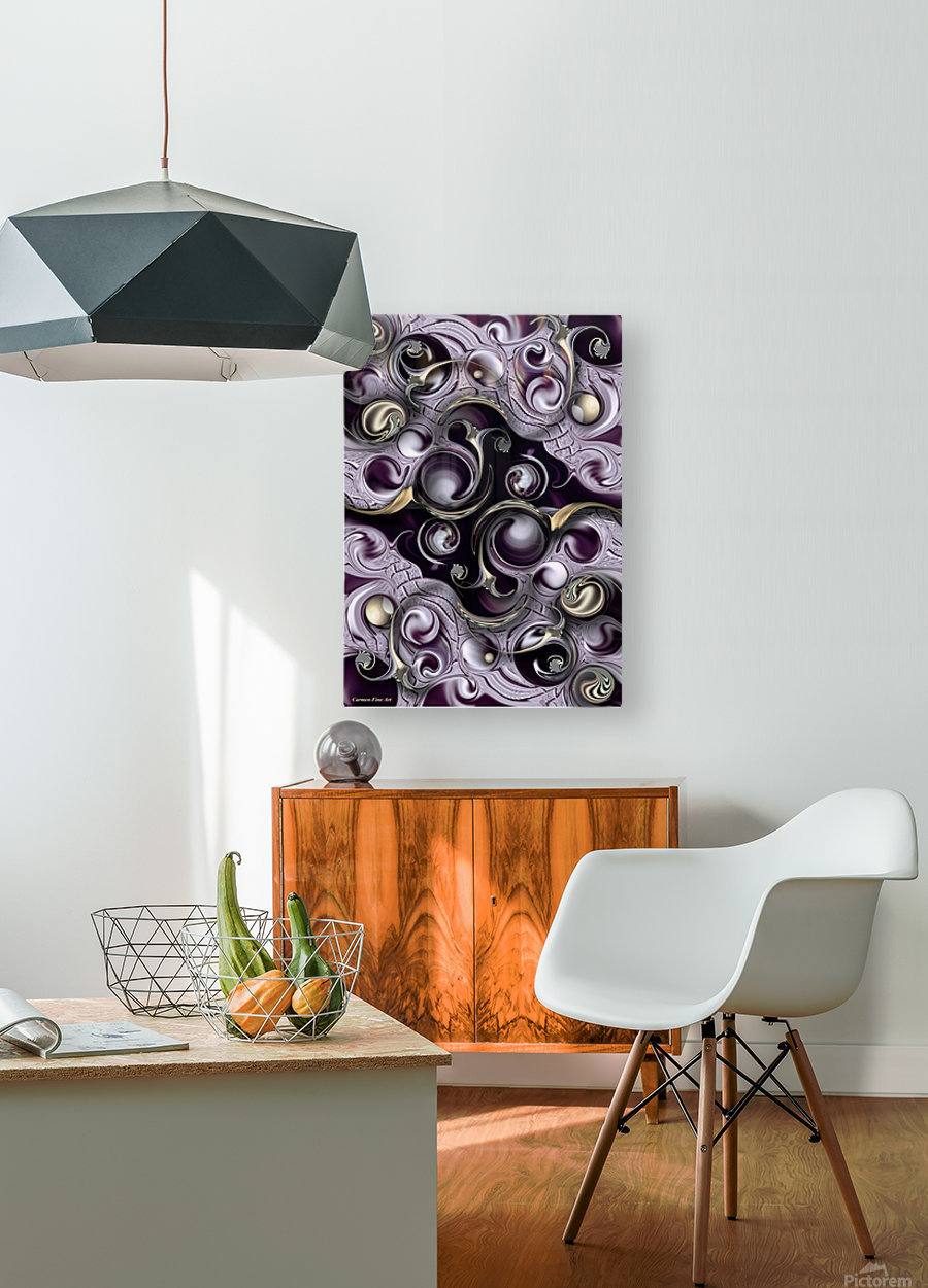Hedonic Energy  HD Metal print with Floating Frame on Back