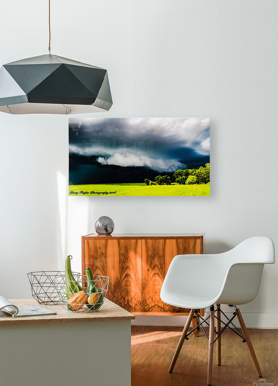 KANSAS STORM ROLLING IN!  HD Metal print with Floating Frame on Back