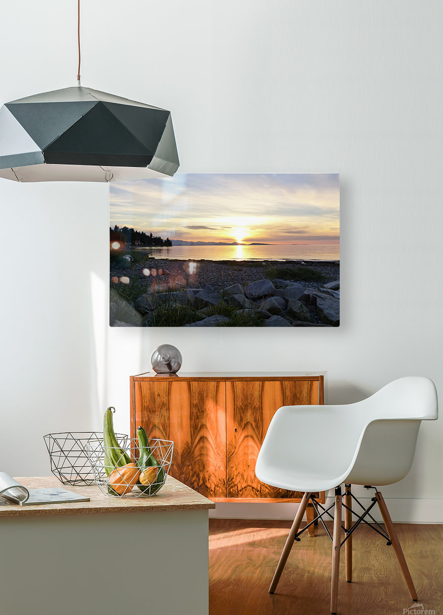 Walking in Light  HD Metal print with Floating Frame on Back